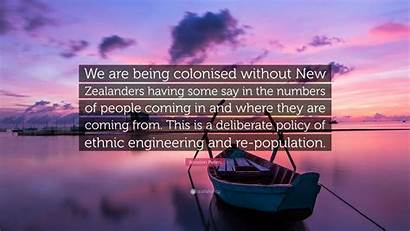 Zealanders Colonised Without Being Coming Winston Peters