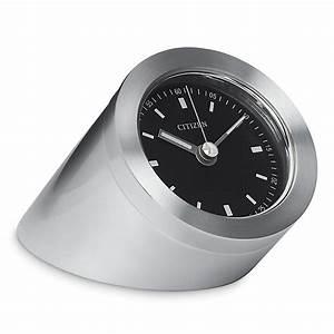 Citizen, Workplace, Silver, Black, Dial, Luminescent, Desk, Clock, W, Engravable, Plate