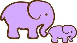 Purple Baby Elephant Clip Art