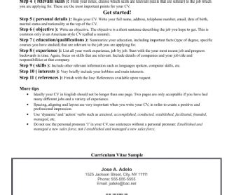 How To Write Your Cv by How To Write Your Cv In