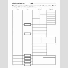 Blank Geologic Time Scale Worksheet  Geologic Time  Secondary School Science, Science Lessons