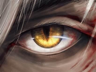 Eye Wolf Anime Werewolf Dribbble Down Night