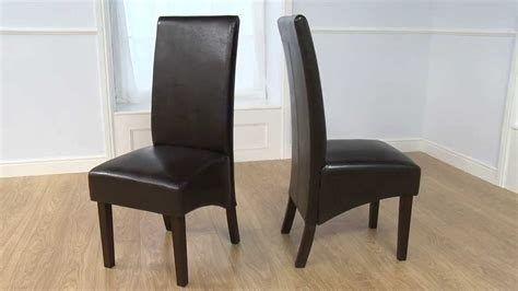 Dakota Dark Faux Leather Dining Chair   OFSTV   YouTube