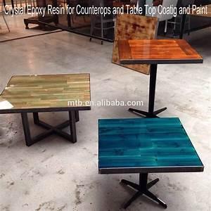 Table Resine Bois : table bois resine epoxy ~ Teatrodelosmanantiales.com Idées de Décoration