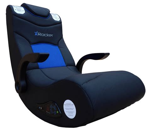 x rocker boomer 2 1 wireless audio gaming chair black blue 5171901 walmart