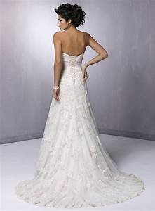 strapless lace beach wedding dresses classical and sexy look With strapless lace wedding dress