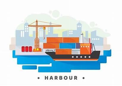 Hafen Clipart Harbour Bearbeiten Vektor