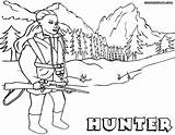 Hunter Coloring Hunter1 sketch template