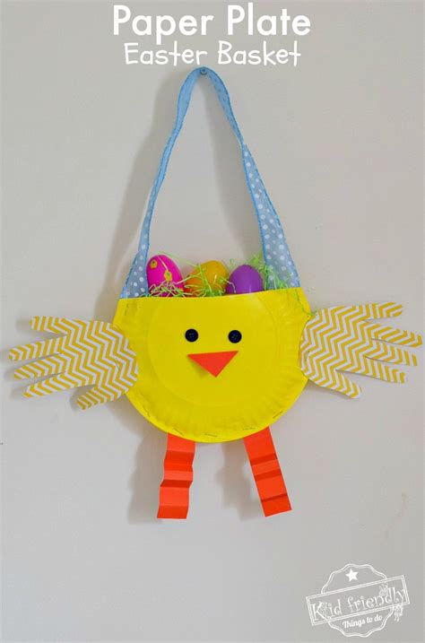 easter baskets arts and crafts ideas diy paper plate chicken easter basket craft for 7670
