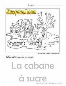 Cabane En Carton À Colorier : cabane a sucre coloriage cabane sucre french classroom french immersion et french lessons ~ Melissatoandfro.com Idées de Décoration