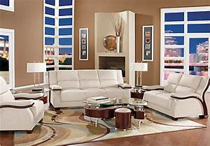 park row white 5 pc living room living room sets white With furniture row leather living room sets
