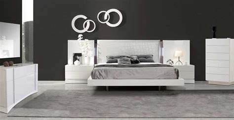 luxurious white lacquer bed sj dolores contemporary bedroom