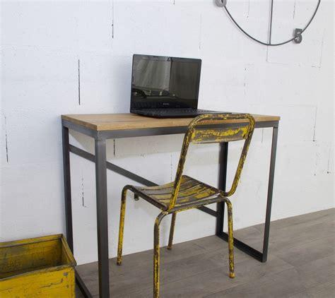 bureau sur mesure en ligne bureau style industriel sur mesure en chêne et acier