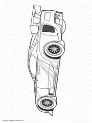 Sports car coloring pages. Free printable pictures for boys
