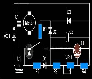 Closed Loop Single Phase Ac Motor Speed Controller Circuit