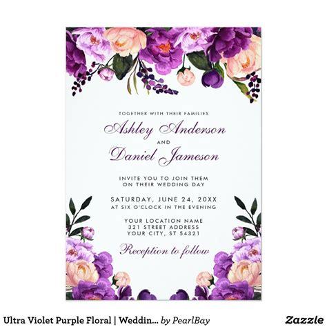 purple lilac wedding invitation printable set kit