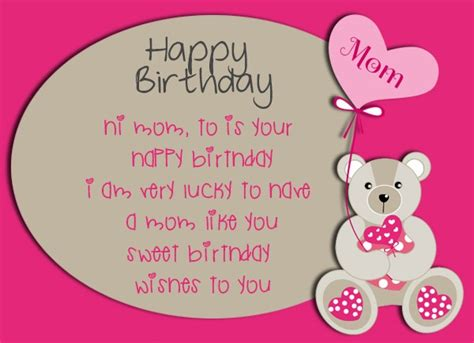 Birthday card messages for mom. Birthday Wishes for Mom - Happy Birthday Mom Quotes