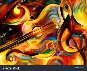 Abstract Painting On The Subject Of Music And Rhythm Stock ...