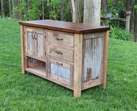 rustic vanity  reclaimed barn wood wbarn tin  keeriah perfect   guest bathroom