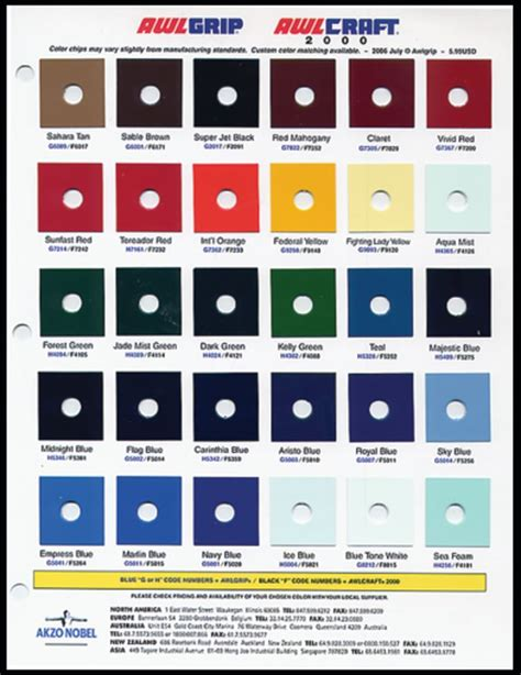 awlgrip marine paint color cards awlgrip topside paint color chart novurania series