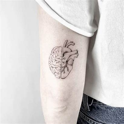 Tattoo Brain Tattoos Cerebro Heart Dotwork Memuralimilani