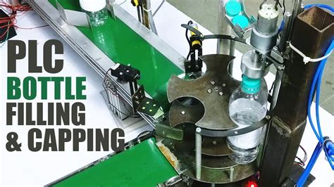 automatic bottle filling capping machine  plc youtube