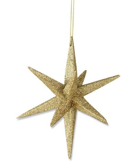gold moravian star ornament theholidaybarn com