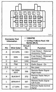 Car Stereo Color Wiring Diagram 98 Chevy