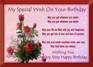 My Special Birthday Wish Free Wishes ECards Greeting Cards 123 Greetings