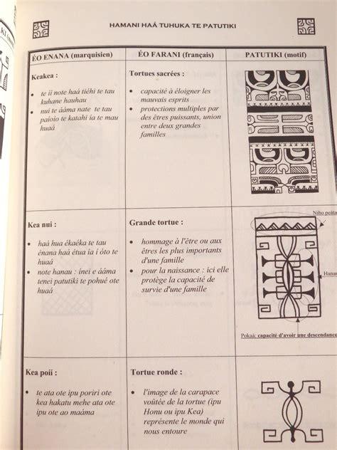 livre te patutiki dictionnaire du tatouage polyn 233 sien des 238 les marquises