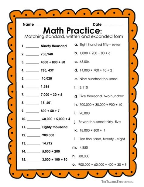 reading and writing numbers in expanded form standard