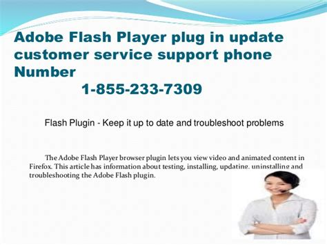adobe support phone number 1 855 233 7309 adobe flash player in update customer