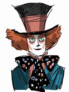 Mad Hatter Drawing - ClipArt Best