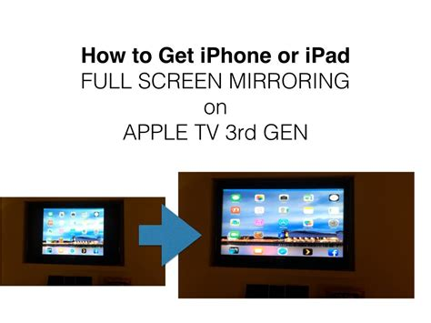 how to display iphone on mac get iphone mirroring screen on apple tv 3