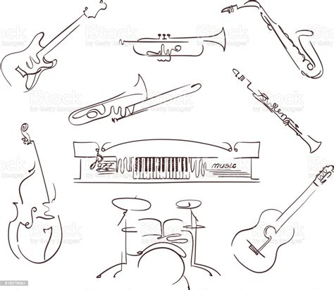 Add to my workbooks (8) download file pdf add to google classroom add to microsoft teams share through. Set Of Musical Instruments Symbols In Line Art Style ...