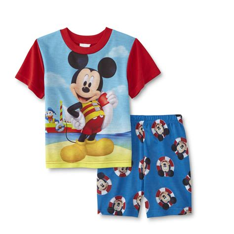 disney mickey mouse infant toddler boy s pajama set