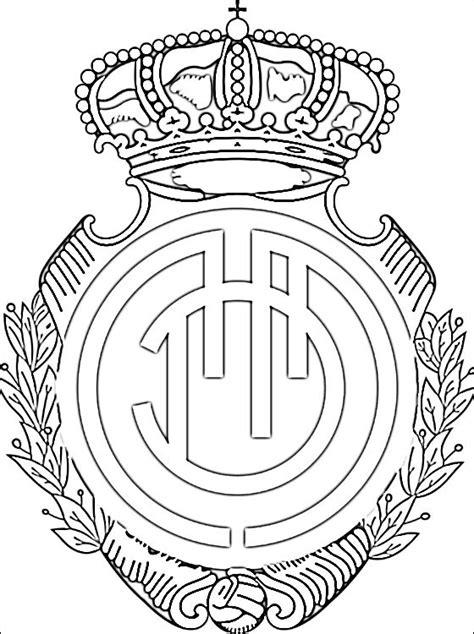 le logo de rcd majorque coloriage  imprimer gratuit