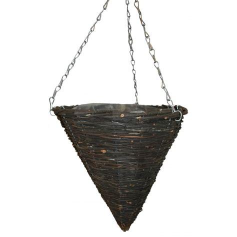 natural wicker hanging basket