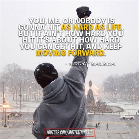 Need some inspiration and motivation to overcome hardships and struggles in life? Top 20 Rocky Quotes to Get You Through Hard Times - MotivationGrid