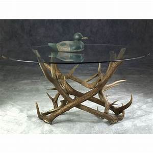 elk antler coffee table With antler coffee table