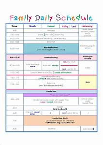 best photos of family routine schedule family daily With child care daily routine template