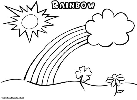 Rainbow coloring pages Coloring pages to download and print