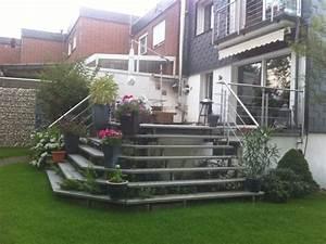 Terrasse Höher Als Garten : terrassentreppe mit edelstahlgel nder und barfu begehbaren aluminiumstufen metallbau bochum ~ Orissabook.com Haus und Dekorationen