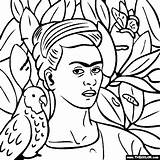 Frida Coloring Self Portrait Kahlo Pages Para Colorear Bonito Paintings Famous Thecolor Cuadros Arte Diego Mexican Rivera Pintar Painting Colouring sketch template
