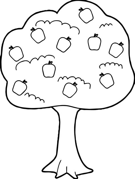 tree template coloring sheets unique fruit trees coloring pages collection printable