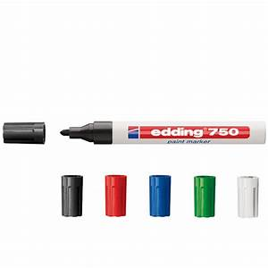 Edding 750 Weiß : edding 750 lackmarker mit rundspitze 2 4 mm markieren nahezu aller materialien ~ Eleganceandgraceweddings.com Haus und Dekorationen