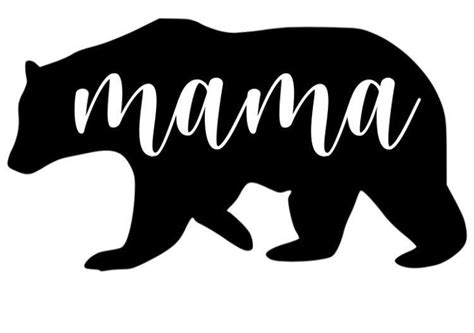 All orders are custom made and most ship worldwide within 24 hours. Mama Bear SVG, Mama SVG, Bear SVG in 2020   Mama bear, Svg ...