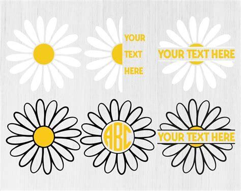 daisy bundle svg daisy monogram svg daisy monogram flower svg flower svg daisy png floral svg