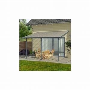 Toit Terrasse Aluminium : toit de terrasse 3x4m anthracite et polycarbonate 8mm patio ~ Edinachiropracticcenter.com Idées de Décoration