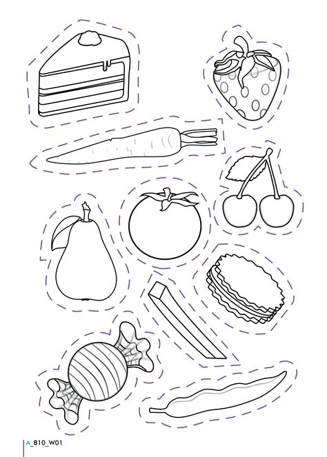 free healthy foods worksheet coloring pages